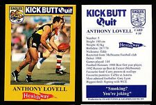 1997 West Coast Eagles Kick Butt Quit Healthway Anthony Lovell