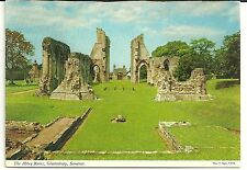 Vintage John Hinde postcard unposted The Abbey Ruins Glastonbury Somerset (006)