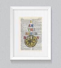 Stone Roses soy la resurrección Vintage Arte de la pared de impresión de libro diccionario