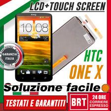 LCD +TOUCH SCREEN HTC ONE X S720E S720 G23 NERO DISPLAY SCHERMO +KIT SMON