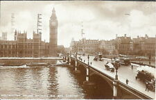 London: Westminster Bridge showing Big Ben - Posted 1946