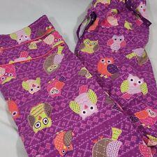 Nick & Nora Owl Pajama Bottom Pants Purple Women's Sleep Wear Small S Teen Kids