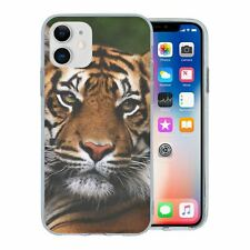 For Apple iPhone 11 Silicone Case Tiger Photo - S2779