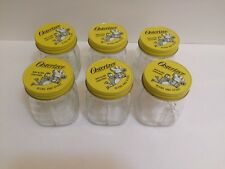 Oster Osterizer Glass Mini Blend Container Jar Metal Lid 8 OZ Lot 6 Vintage