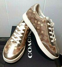 NIB COACH Signature Star Sneaker Khaki/Gold FG3151