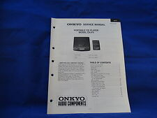 Onkyo DX-F5 Portable CD Player Service Manual