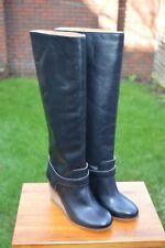 *STUNNING Maison Martin Margiela (MM6) Ladies Black Wedge Leather Boot UK3.5 US6