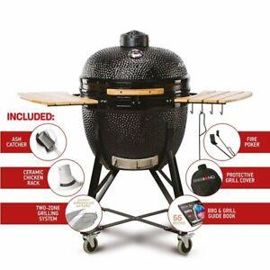 "Kamado Bono Grande Limited 25"" BBQ Grill Smoker Ceramic Egg Charcoal Cooking"