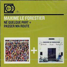 CD - MAXIME LE FORESTIER - Né quelque part + Passer ma route