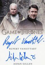 Scarce VHTF Game of Thrones Dual Autograph card Rupert Vansittart & Aidan Gillen