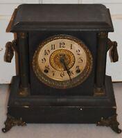 Antique E. Ingraham Co. Bristol Conn.USA  Mantle Clock for parts or repair