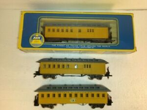 3 VIRGINIA & TRUCKEE Old Time Passenger cars.1 Coach 2 Baggage Combines. Pocher.