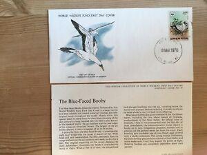 GRENADA 1978 FDC WWF 078 BIRDS BLUE-FACED BOOBY