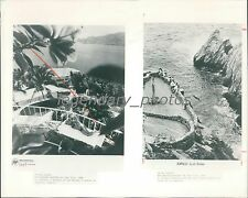 1988 Resort and Cliff Divers in Acapulco Mexico Original News Service Photo