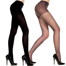 Sexy Sheer Support Control Top Pantyhose Nylon/Spandex Footed Tights Plain Solid