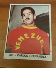 CARLOS HERNANDEZ #381 1966 PANINI CAMPIONI DELLO SPORT BOXING CARD RARE