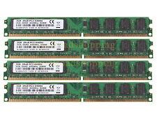 Baja densidad 8GB 4x 2GB DDR2 800MHz PC2-6400U CL6 DIMM Intel CPU Memoria de escritorio