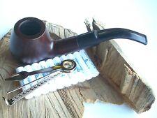 Tabakpfeife Walnuß, Walnußpfeife gebogen mit Stopfer und Filter NEU