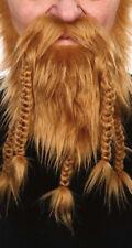 Barbe collier blonde avec moustache 5 tresses pour viking Postiche déguisement