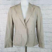 Theory Women's Size 4 Blazer Jacket Tan One Button