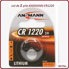 1 pile bouton CR1220 lithium Ansmann, livraison rapide et gratuite
