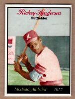 RICKEY HENDERSON. '77 MODESTO ATHLETICS MINOR LEAGUE LIMITED ED. NYC CAB CARD