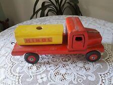 Altes Holzspielzeug Laster LKW Lastwagen Holzauto Minol Länge 36cm Höhe 16 cm