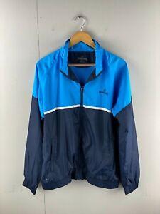 Spaulding Men's Full Zip Golf Casual Long Sleeve Lightweight Jacket Size L Blue