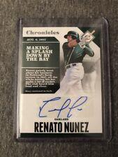 2017 Chronicles Renato Nunez Rc Autograph A's Mint Free CombS&H