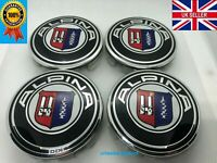 4x BMW ALPINA Alloy Wheel Centre Caps 68MM Blue E90 E46 E34 Z4 1 3 5 7 Serie
