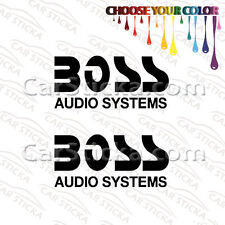"""2 of 5"""" Boss Audio Systems /A aftermarket car bumper stickers decals die cut"""