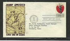 US FDC...1966 MARG Cachet...#1317...5 cent...JOHNNY APPLESEED