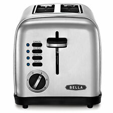 Bella 2-Slice Polished Stainless Steel Toaster