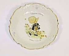 Vintage Holly Hobbie Dish Happiness is Having Someone to Care For Holly with Cat