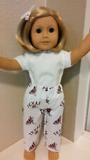 Fits 18 inch AMERICAN GIRL DOLL  TEXAS A&M PANTS  PJ Bottoms  DOLL CLOTHES  4786