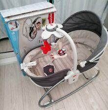 Tiny love 3 in 1 rocker baby napper grey hood  seat soft sleeping musical