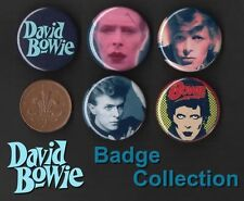 David Bowie 5 x 31 mm Button Badges Aladdin Sane Set 1