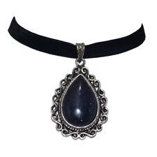Nightfall Blue Sandstone Choker, Sparkle,Gemstone,Gothic,Bohemian,Boho N3