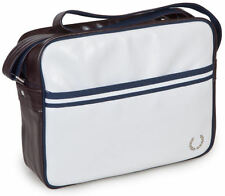 Mens Fred Perry Shoulder Retro Record/ Messenger Bag - White/Maroon/Navy