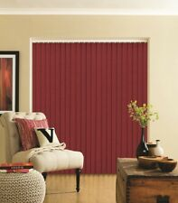 Complete Splash Ruby Dark Deep Red Made to Measure Vertical Blind - Best Price