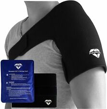 PlayActive Shoulder Hot Cold Therapy Gel Ice Pack Large Adjustable Wrap & Strap