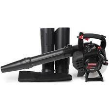 Craftsman 27cc Gas Leaf Blower with Vacuum Kit 450 CFM 205 MPH Easy Starts