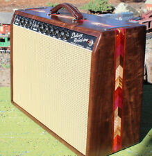 65 Deluxe Amp  Cabinet Fender Wheat Grill Cloth 64 Hand Wired CUSTOM AMP WOODS