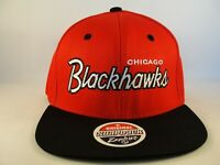 Chicago Blackhawks NHL Zephyr Snapback Hat Cap Red Black