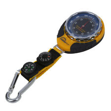 4in1 Compass Barometer Thermometer With Carabiner Camping Hiking Pocket Z9D5
