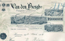 Van den Bergh s Margarine Ges Hannover Rechnung 1904 Niedersachsen Unilever Rama