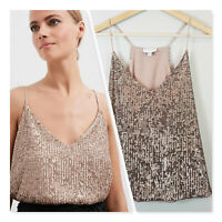 [ WITCHERY ] Womens Sequin V Camisole Top RRP$129.95 | Size XXS or AU 6 / US 2