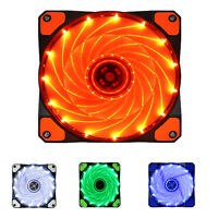 3-Pin/4-Pin 15LED PWM PC Computer Case CPU Cooler Cooling Fan Halo-Color 120mm
