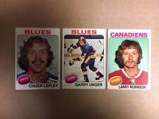 Chuck Lefley St Louis Blues Signed 1975-76 Topps hockey card COA