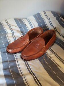 Allen Edmonds Coppell Penny Loafer Mens 11.5 3E Brown Beefroll Slip on Shoes
